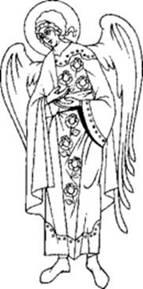 Святой Архангел Варахиил. Прорись. Источник: www.mgarsky-monastery.org