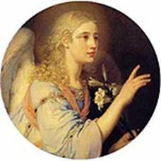 В. Л. Боровиковский. Архангел Гавриил (левая часть диптиха «Благовещение»). 1804