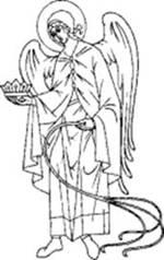Святой Архангел Иегудиил. Прорись. Источник: www.mgarsky-monastery.org
