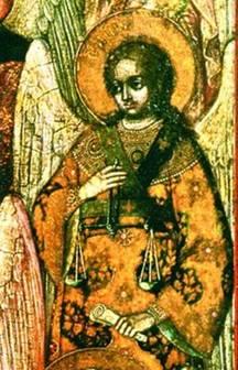 Архангел Иеремиил. Фрагмент иконы Божией Матери «Честнейшая Херувим». 1836 г. (частное собрание, Германия)