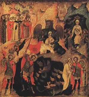 Чудо Феодора Тирона. Россия, XVII век