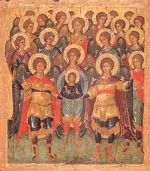 Собор Архангелов. Икона. Греческая школа. 1500 год. Источник: прислано посетителем нашего сайта.